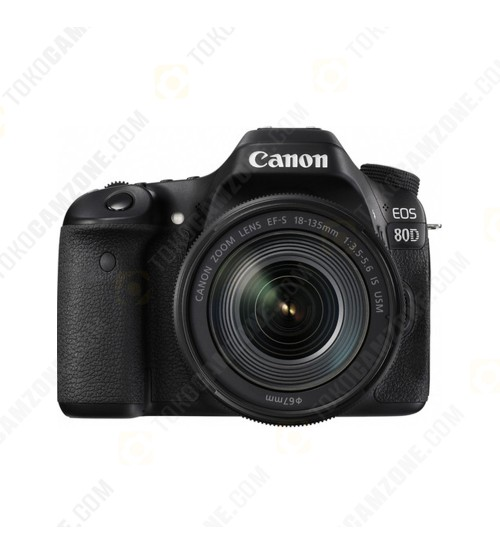 Canon EOS 80D Kit 18-135mm Nano USM WiFi (Promo Cashback Rp 500.000 + Power Adapter PZ-E1)